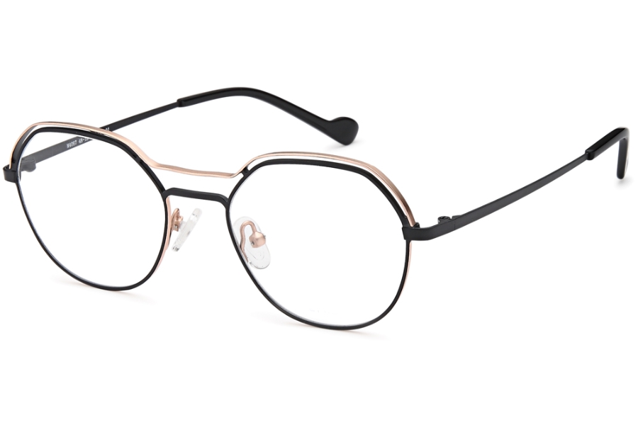 Menizzi Petite M4087 Eyeglasses in 01-Black/Gold