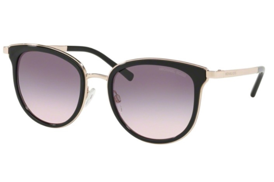 ae8302fd76 Michael Kors MK1010 ADRIANNA I Sunglasses in 11085M Rose Gold   Grey Purple  Gradient ...