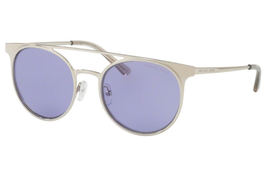 1ad9bbe71ed80 ... Michael Kors Mk1030 Grayton Sunglasses in 11371A Shiny Silver  -Tone Purple Solid ...