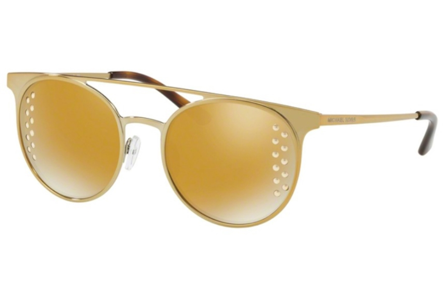 1095c352ca ... Michael Kors Mk1030 Grayton Sunglasses in 11684Z Shiny Pale Gold -  Tone  Liquid Gold Mirror ...