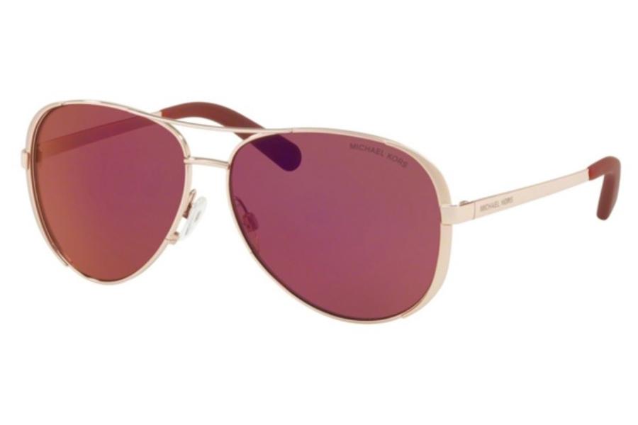 0941caba4b94f ... Michael Kors MK5004 CHELSEA Sunglasses in 1017D0 Rose Gold Tone    Burgundy Mirror ...