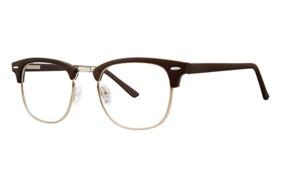 Modern Times Classic Eyeglasses in Brown Matte/Gold