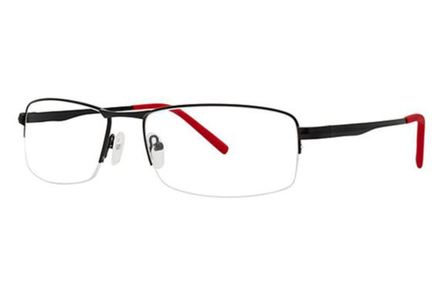 Modern Times Lethal Eyeglasses in Matte Black/Red