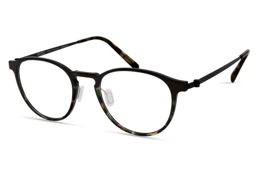 Modo MODO 7013 Global Fit Eyeglasses in Green Tortoise