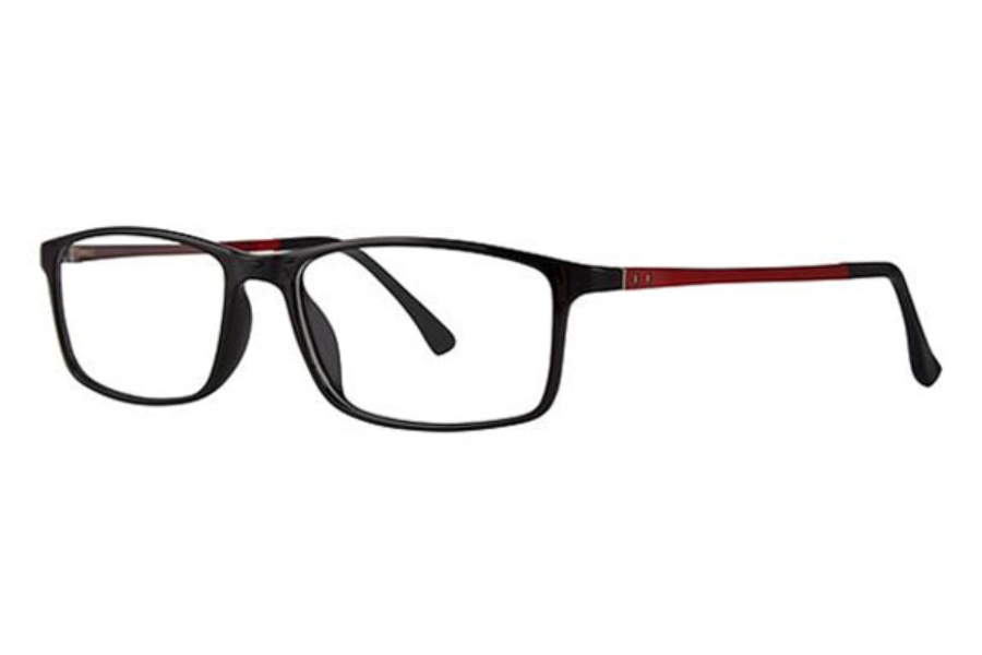 Modz Pontiac Eyeglasses in Black Red