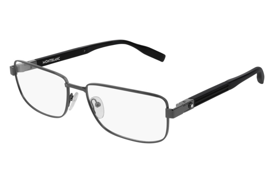 Mont Blanc MB0034O Eyeglasses in 001 Ruthenium (56 Eye Size Available)