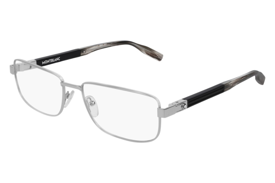 Mont Blanc MB0034O Eyeglasses in 002 Silver (56 Eye Size Available)