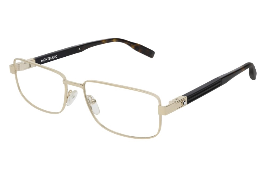 Mont Blanc MB0034O Eyeglasses in 003 Gold (56 Eye Size Available)