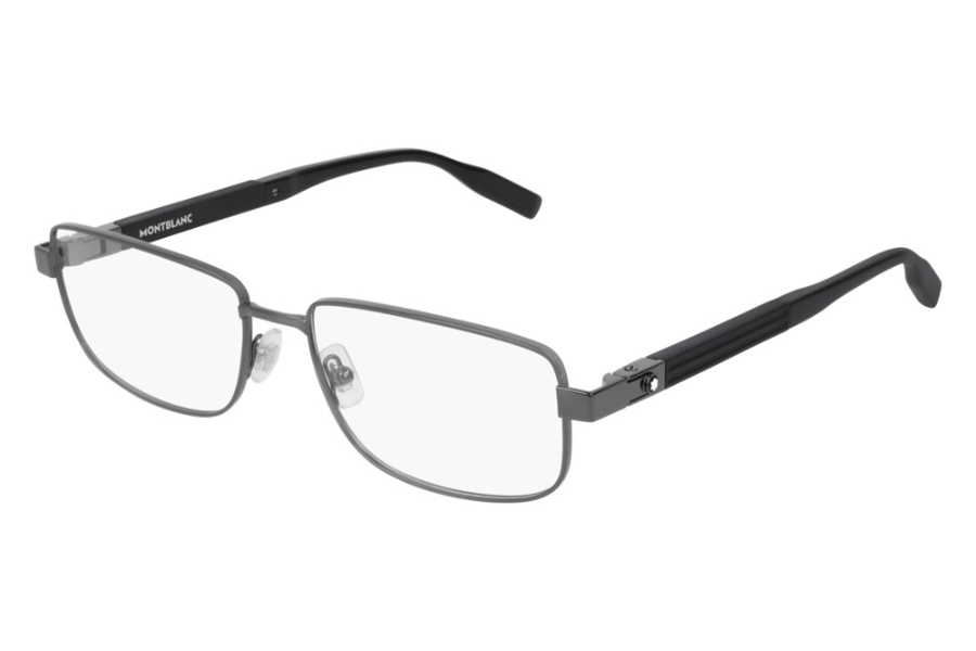 Mont Blanc MB0034O Eyeglasses in 004 Ruthenium (58 Eye Size Available)