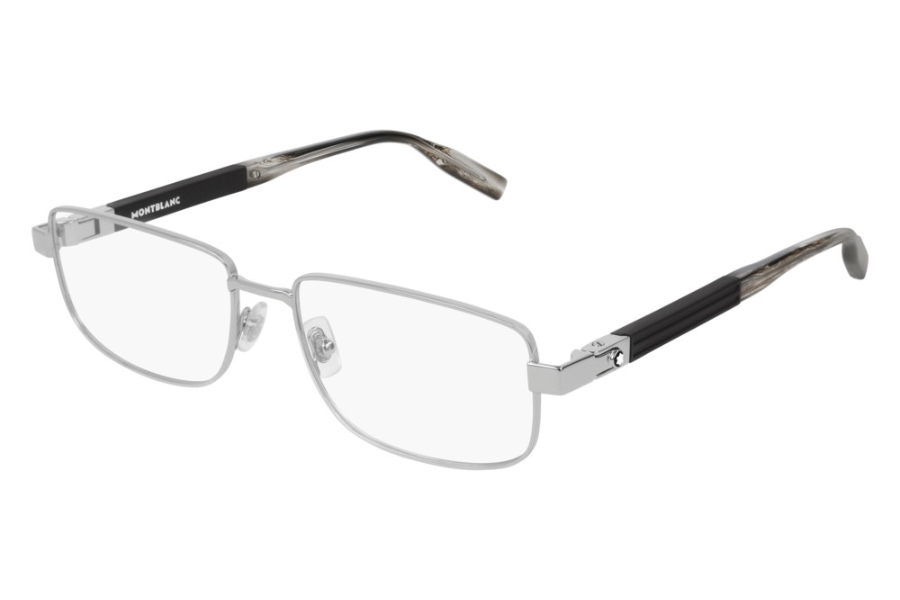 Mont Blanc MB0034O Eyeglasses in 005 Silver (58 Eye Size Available)