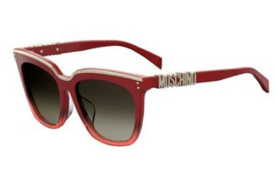 Moschino Mos 025/F/S Sunglasses in 0C9A Red (HA brown gradient lens)