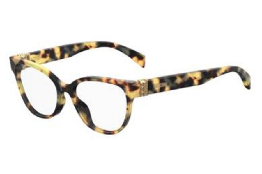 Moschino Mos 509 Eyeglasses in 0SCL Yellow Havana