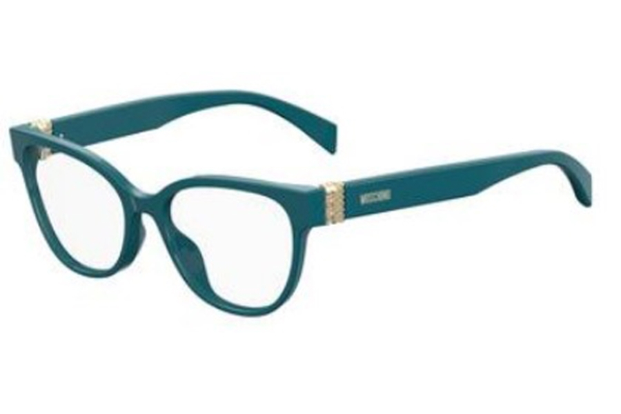 Moschino Mos 509 Eyeglasses in 0ZI9 Transparent Teal Tea