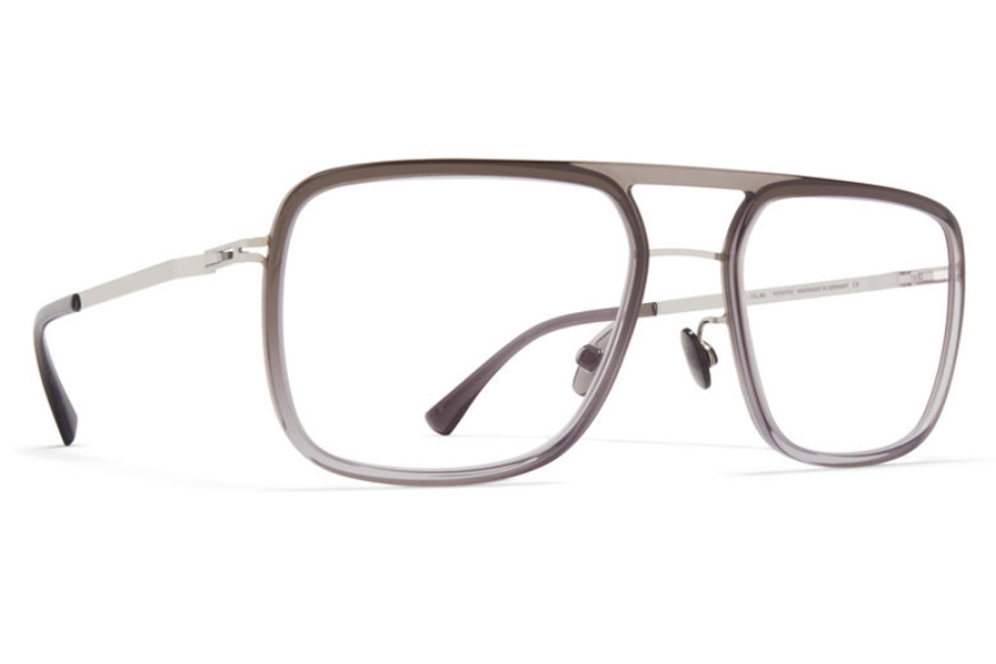 Mykita Elgard Eyeglasses in A44 Shiny Silver/Grey Gradient