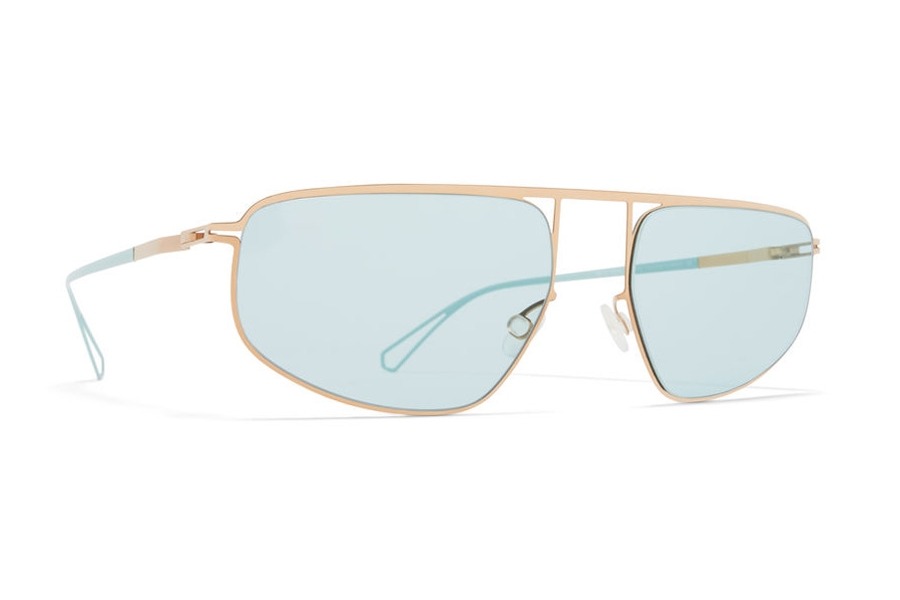 Mykita Nat Sunglasses in C61 Grey/POW10 w/Soft Green Solid