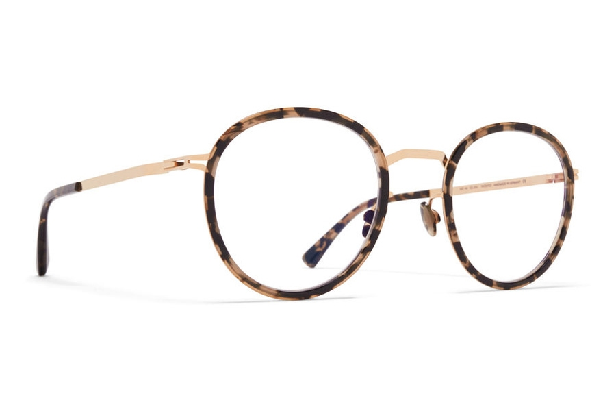 Mykita Tuva Eyeglasses in A38 Champagne Gold/Antigua