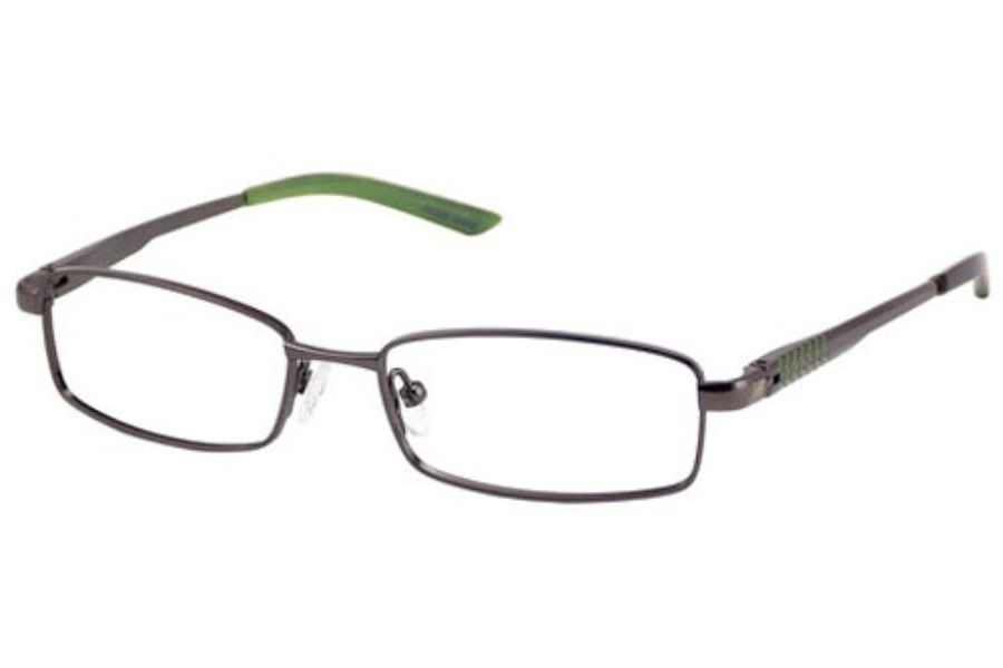 New Balance Kids NBK 104 Eyeglasses in Dark Gunmetal
