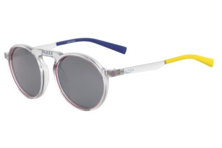 Nautica N6240S Sunglasses in 981 Crystal/Red