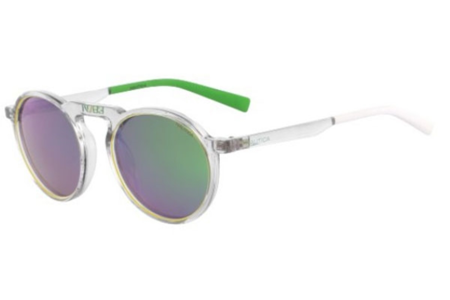 Nautica N6240S Sunglasses in 991 Crystal/Yellow