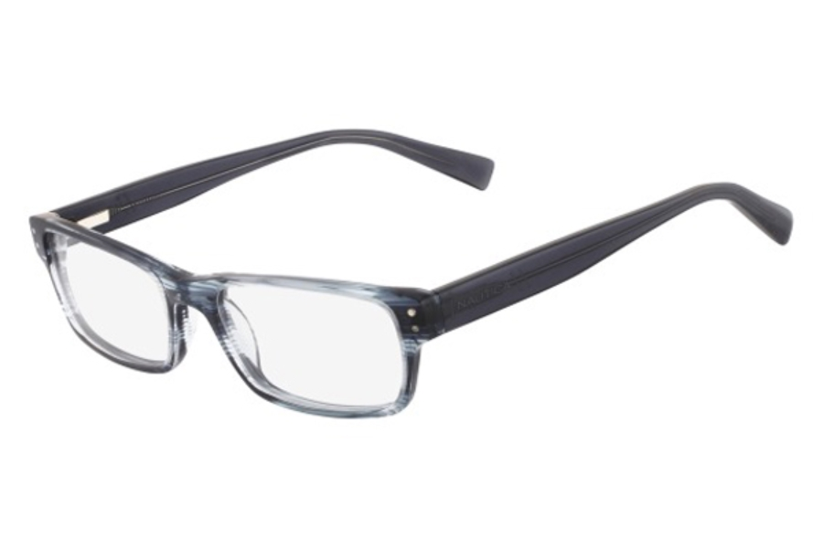 National N8093 Eyeglasses in 471 Blue-Grey Horn