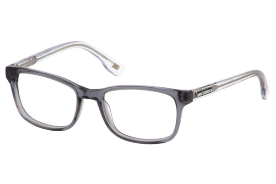 New Balance Kids NBK 128 Eyeglasses in Grey-Crystal