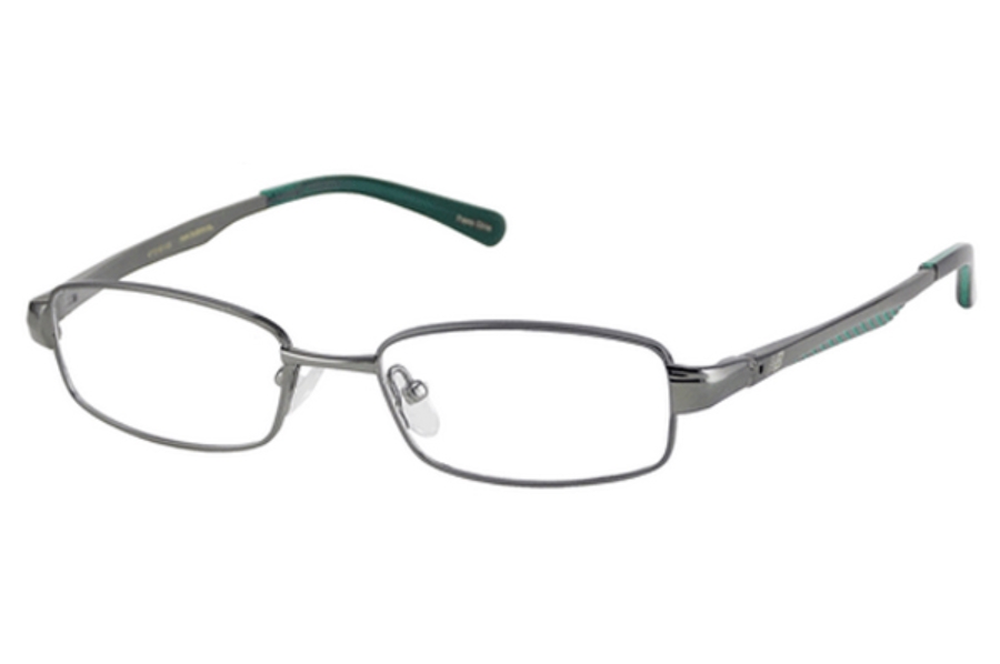 New Balance Kids NBK 58 Eyeglasses in Gunmetal