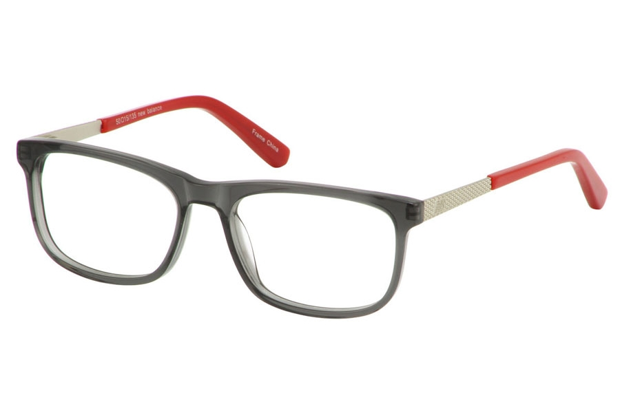 New Balance Kids NBK 137 Eyeglasses in Grey-Crystal