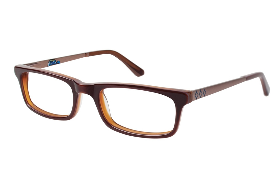 Nickelodeon Leader Eyeglasses in Brown