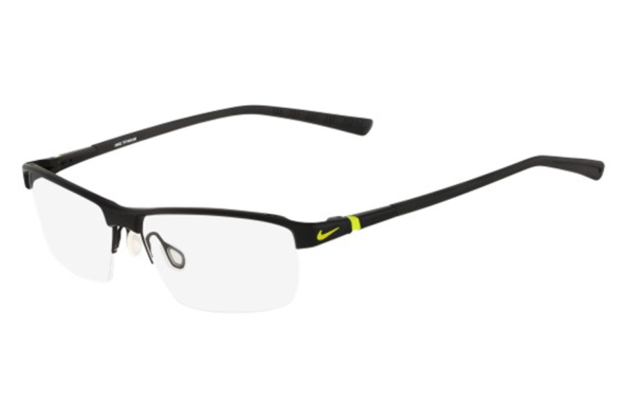 Nike NIKE 6052 Eyeglasses in 002 Satin Black/Venom Green