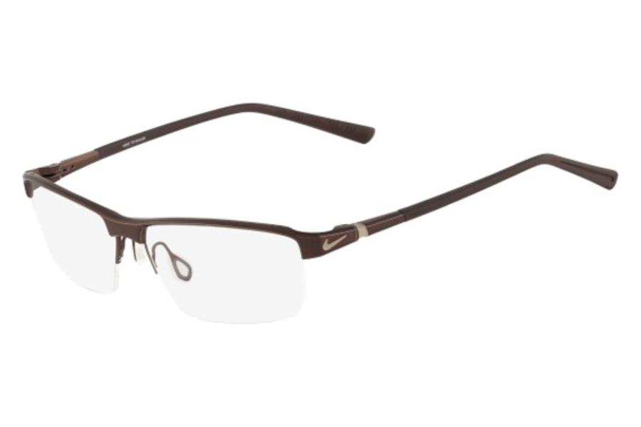 Nike NIKE 6052 Eyeglasses in 201 Walnut/Dark Brown