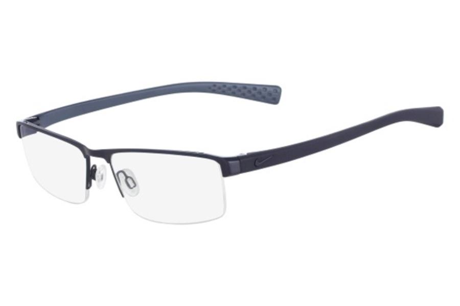 ae59c146d4b7 Nike NIKE 8097 Eyeglasses in 400 Satin Blue-Midnight Navy ...
