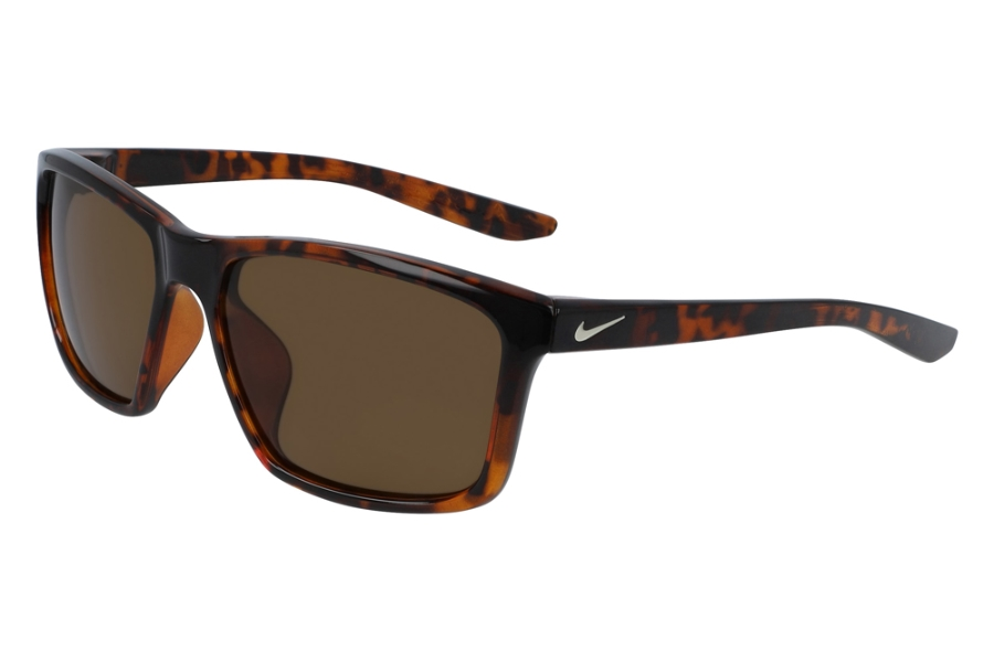 Nike NIKE VALIANT CW4645 Sunglasses in 220 Tortoise/Light Bone/Dk Brown