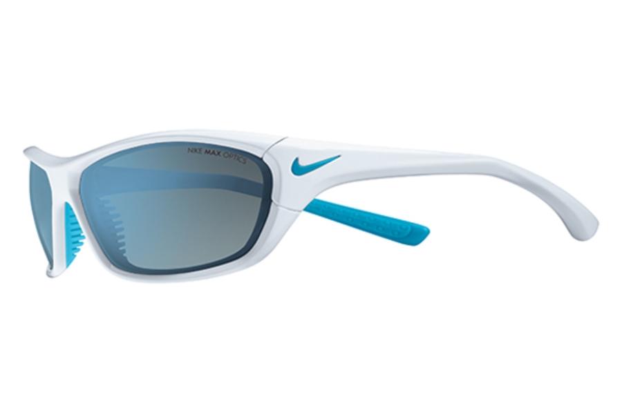 fc3644dc3809 ... Nike VEER EV0557 Sunglasses in 144 Wht/Neo Turq/Gry Bl Fl/Gry ...