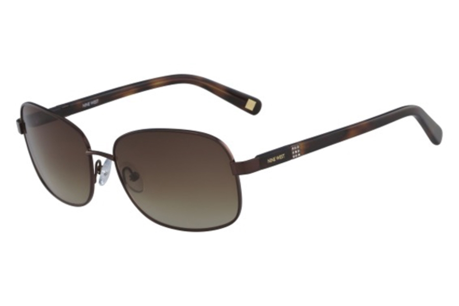 Nine West NW123S Sunglasses in 210 Shiny Brown