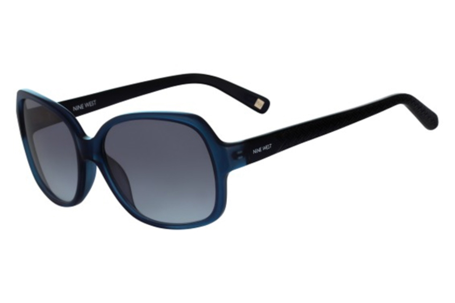 Nine West NW587S Sunglasses in 434 Crystal Navy