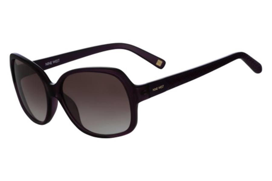 Nine West NW587S Sunglasses in 515 Crystal Purple