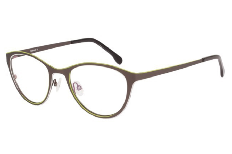 Noego Dimension 2 Eyeglasses in C68 Marron/Blanc/Anis