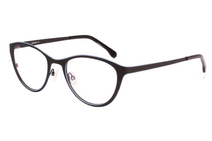 Noego Dimension 2 Eyeglasses in C72 Noir/Bleu