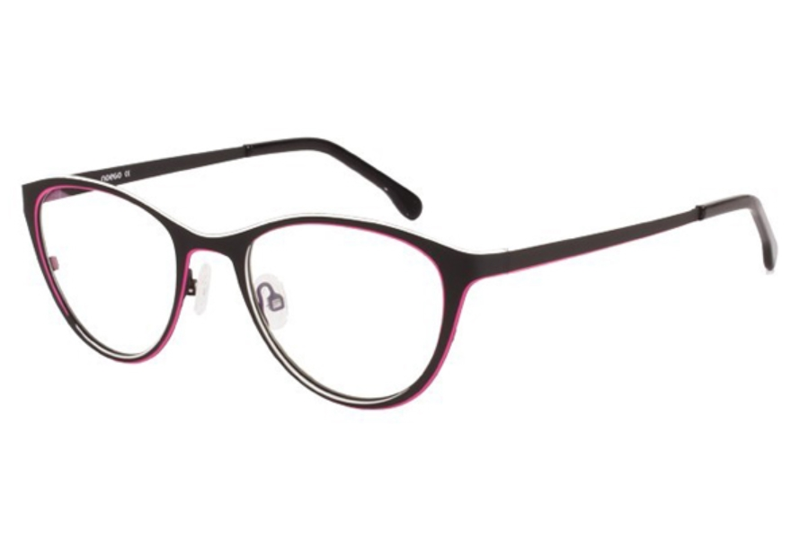 Noego Dimension 2 Eyeglasses in C80 Noir/Blanc/Magenta