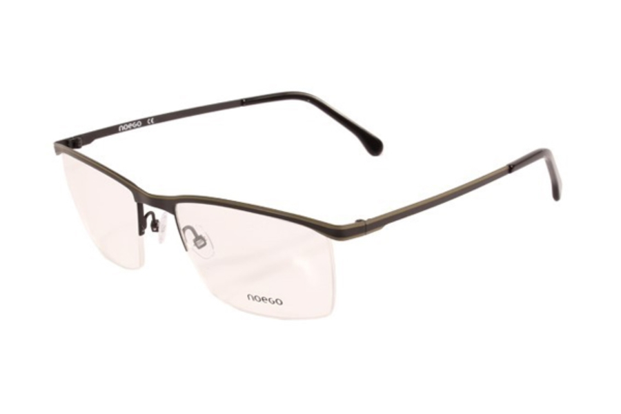 Noego Number 5 Eyeglasses in C52 Noir/Kaki