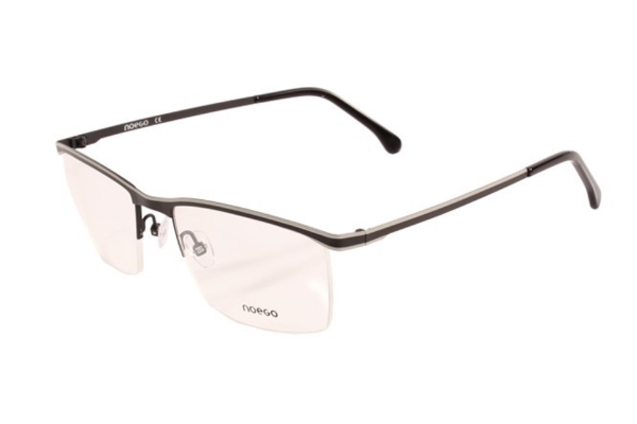 Noego Number 5 Eyeglasses in C88 Noir/Gris