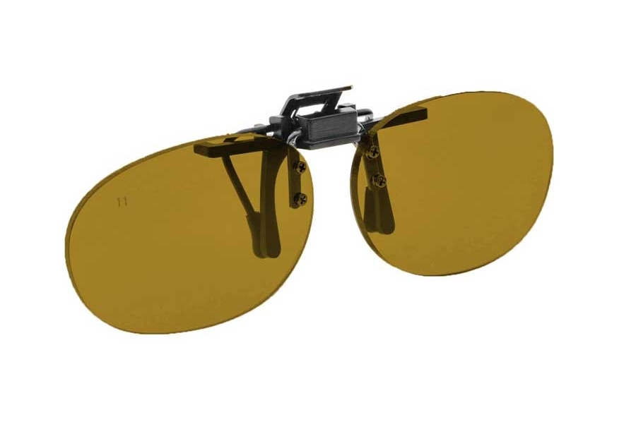 NoIR #16 Pediatric Oval Flip-Up Clip-On - Continued Sunglasses in 11 - Amber