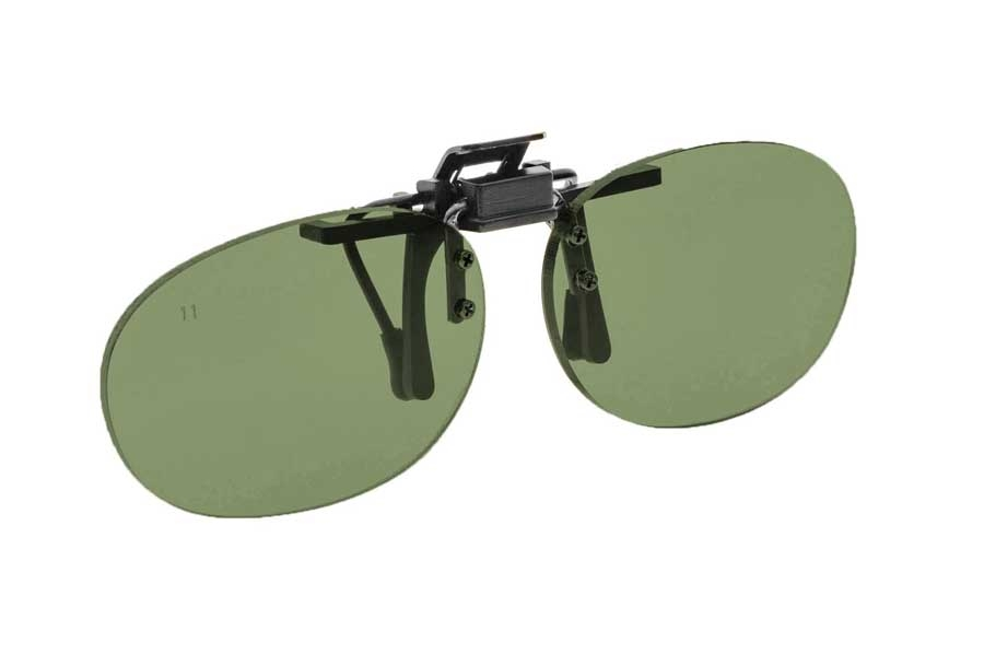 NoIR #16 Pediatric Oval Flip-Up Clip-On - Continued Sunglasses in 12 - Grey-Green