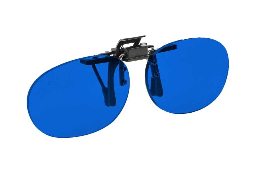 NoIR #16 Pediatric Oval Flip-Up Clip-On - Continued Sunglasses in 26 - Blue