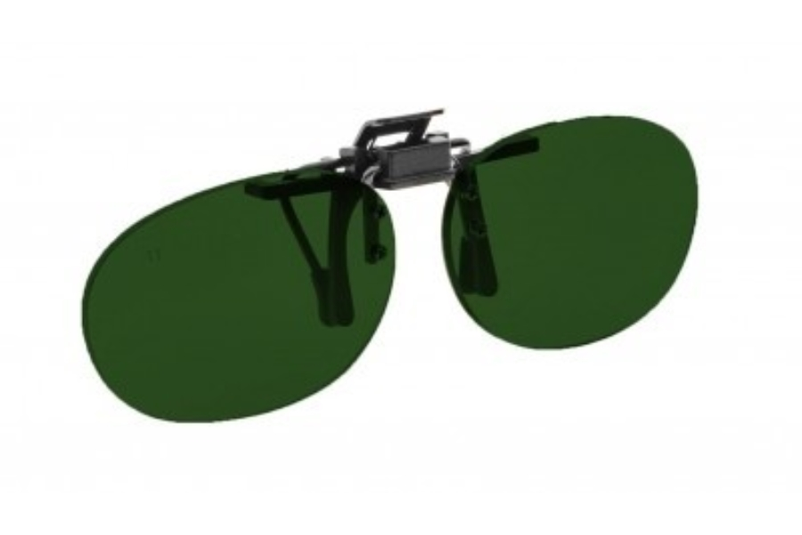 NoIR #16 Pediatric Oval Flip-Up Clip-On - Continued Sunglasses in 33 - Grey-Green
