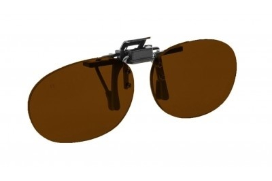 NoIR #16 Pediatric Oval Flip-Up Clip-On - Continued Sunglasses in 43 - Amber