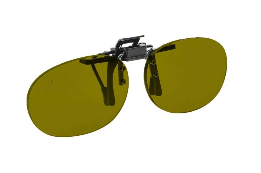 NoIR #16 Pediatric Oval Flip-Up Clip-On - Continued Sunglasses in 59 - Yelllow