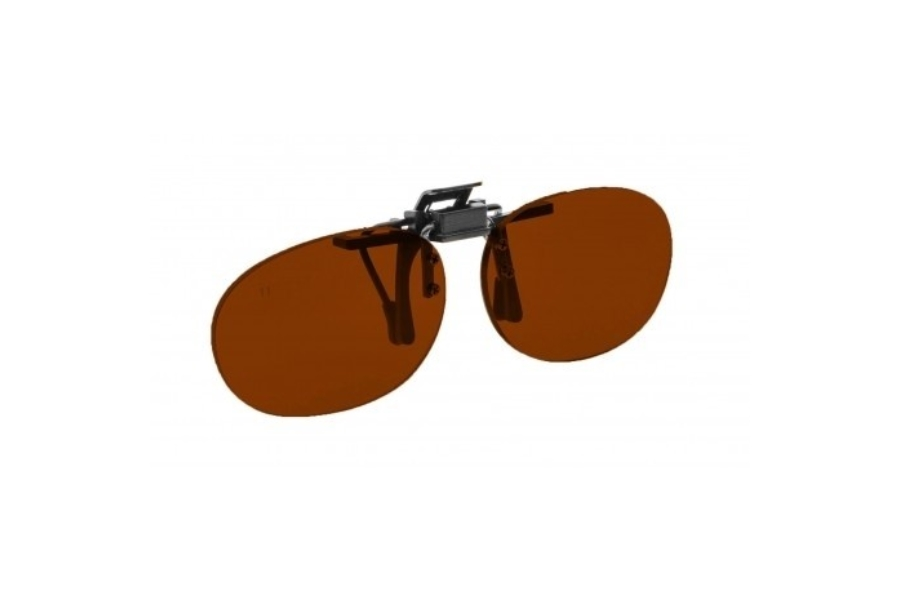 NoIR #16 Pediatric Oval Flip-Up Clip-On - Continued Sunglasses in 69 - Noir Orange