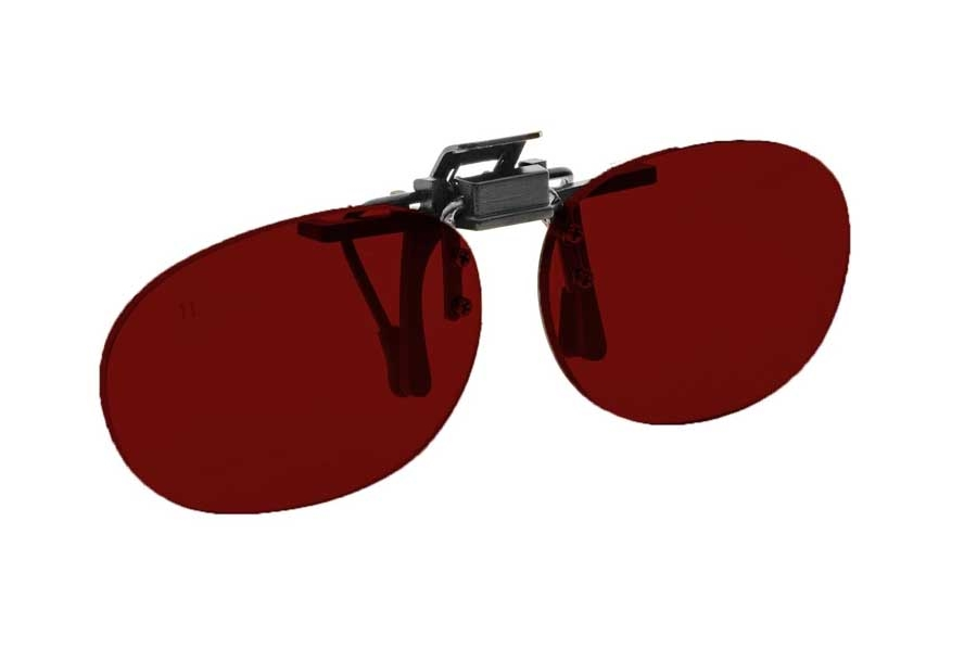 NoIR #16 Pediatric Oval Flip-Up Clip-On - Continued Sunglasses in 99 - Red