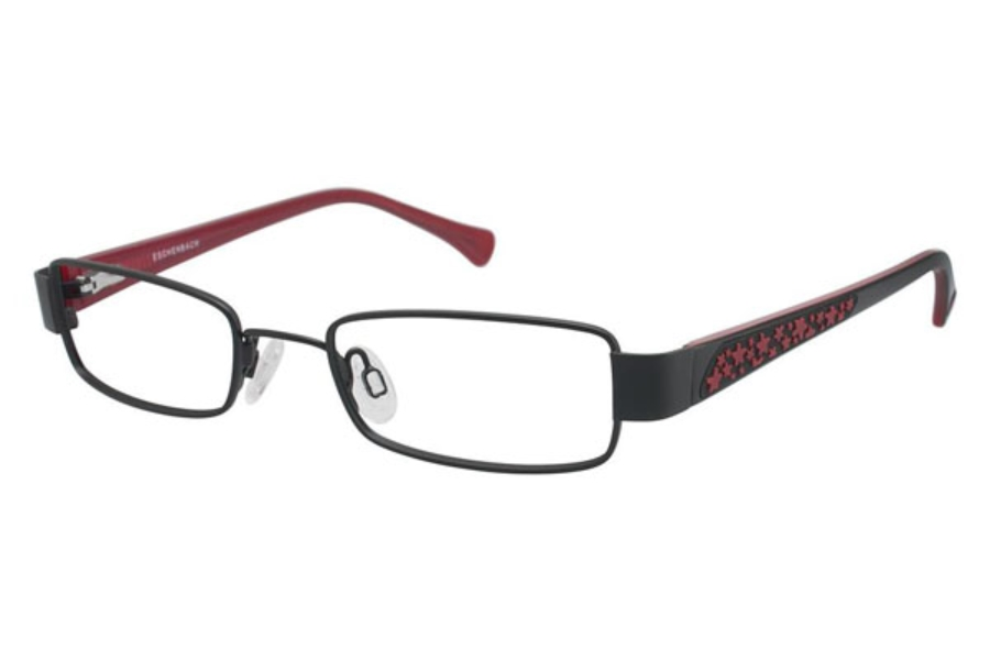 O!O 830021 Eyeglasses in BLACK W/ RED AND BLK TEMP (10)
